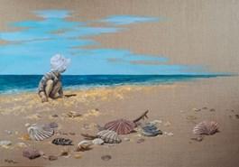 Obraz do salonu artysty Magdalena Kępka pod tytułem Magiczny świat M - poszukiwacz pereł