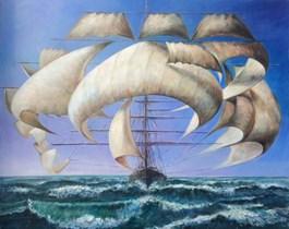 Obraz do salonu artysty Andrzej Wroński pod tytułem Z wiatrem