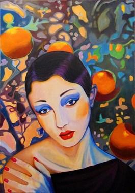 Obraz do salonu artysty Michał Zalewski pod tytułem Pomarańczarka