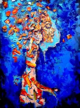 Obraz do salonu artysty Łukasz Jankiewicz pod tytułem Portret emocjonalny