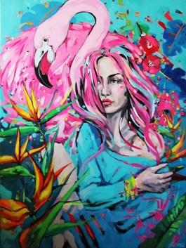 Obraz do salonu artysty Kamila Jarecka pod tytułem Pink