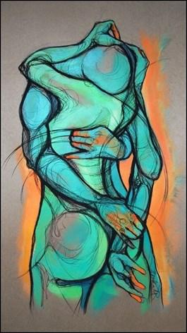 Obraz do salonu artysty Aleksandra Wiszniewska pod tytułem Zostań moją zorzą