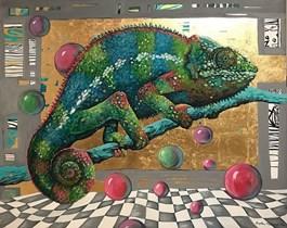 Obraz do salonu artysty Magdalena Rytel-Skorek pod tytułem Zmieniam się