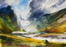 Obraz do salonu artysty Adam Papke pod tytułem Pejzaż sentymentalny, Szkocki