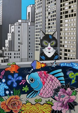 Obraz do salonu artysty Marcin Błach pod tytułem Walk on the wild side