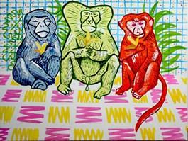 Obraz do salonu artysty Marysia Jagłowska pod tytułem Małpy