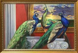 Obraz do salonu artysty Anita Kuchta-Kurasińska pod tytułem Trzy pawie
