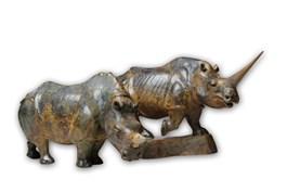 Rzeźba do salonu artysty Ryszard Wichtowski pod tytułem Nosorożce