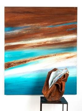 Living room painting by Joanna Roszkowska titled Varadero