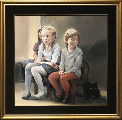 Obraz do salonu artysty Jan Dubrowin pod tytułem Bajka na dobranoc