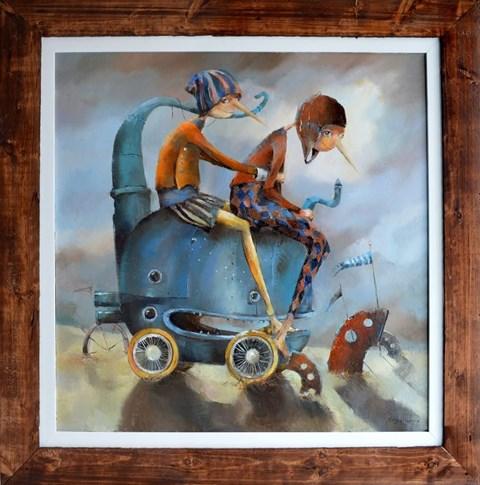 Obraz do salonu artysty Małgorzata Piątek-Grabczyńska pod tytułem Maszynka do latania