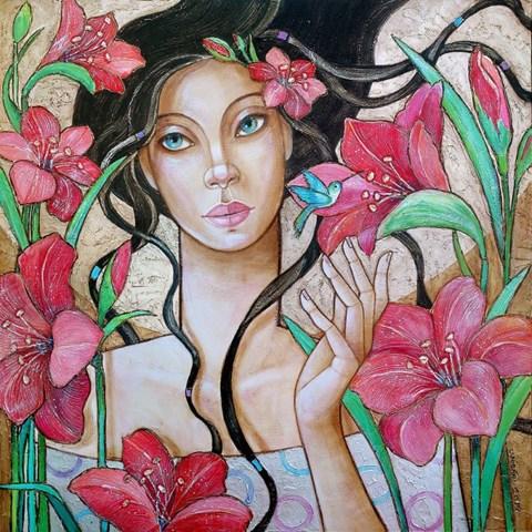 Obraz do salonu artysty Joanna Misztal pod tytułem Koliberek