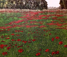 Living room painting by Jacek Malinowski titled Poppies