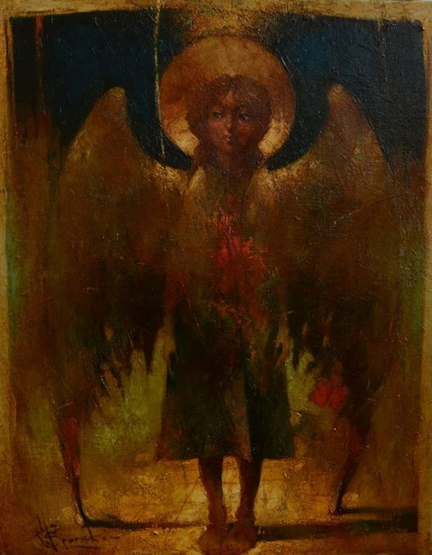 Obraz do salonu artysty Wacław Sporski pod tytułem Wieczorny Anioł