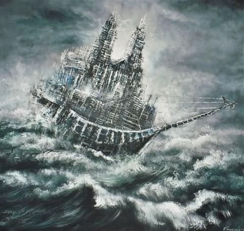 Obraz do salonu artysty Andrzej Fronczak pod tytułem Latający Holender Katedralny