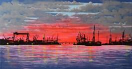 Obraz do salonu artysty Michał Mroczka pod tytułem Gdynia
