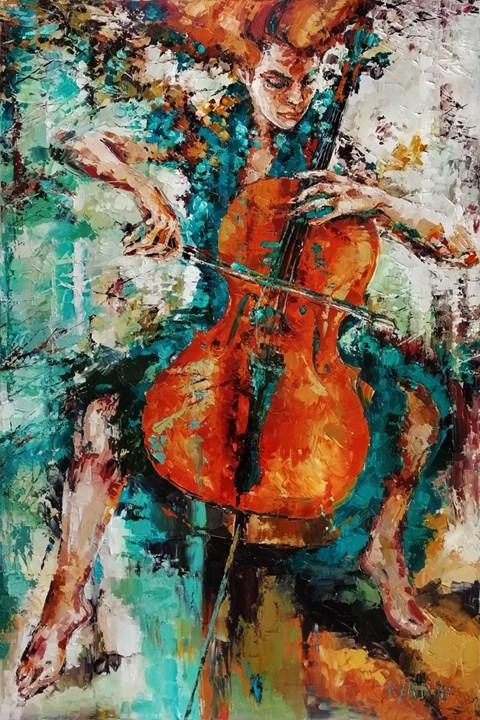 Obraz do salonu artysty Krystyna Róż-Pasek pod tytułem Hierarchia