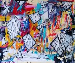 Living room painting by Magdalena Karwowska titled Bez tytułu 2