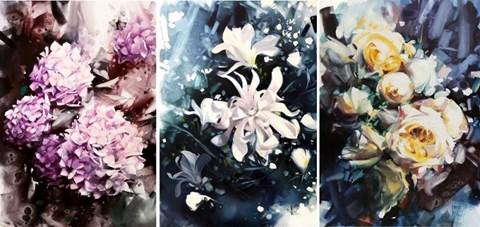Obraz do salonu artysty Karina Jaźwińska pod tytułem Wiosenny ogród (tryptyk)
