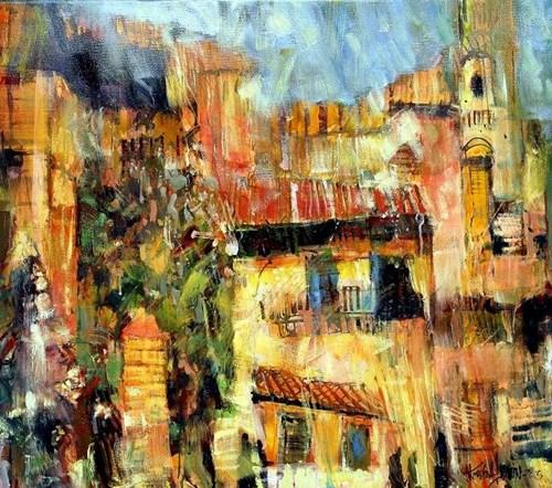 Obraz do salonu artysty Krzysztof Ludwin pod tytułem Sycylia