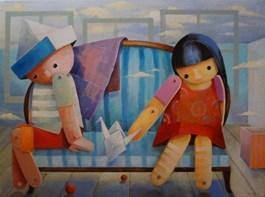 Obraz do salonu artysty Mirella Stern pod tytułem Rozmowy pokojowe