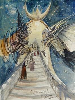 Obraz do salonu artysty Tomasz Sętowski pod tytułem Pałac pamięci