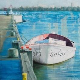Obraz do salonu artysty Łukasz Szymerkowski pod tytułem Sopot Marina