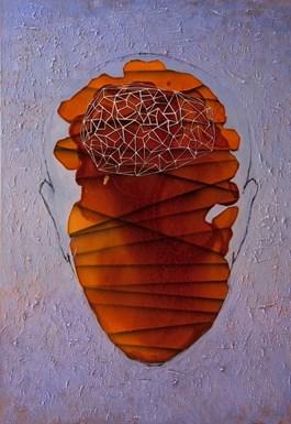 Obraz do salonu artysty Grzegorz Klimek pod tytułem Ksztalt X
