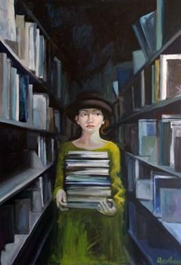 Obraz do salonu artysty Katarzyna Orońska pod tytułem Wychodząc z ciemności
