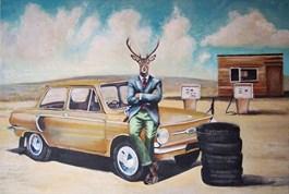 Obraz do salonu artysty Lech Bator pod tytułem Zaporożec
