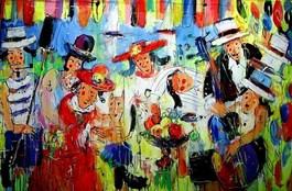 Obraz do salonu artysty Dariusz Grajek pod tytułem Wioślarze