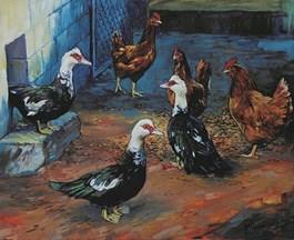 Obraz do salonu artysty Bartosz Armusiewicz pod tytułem Celebryta