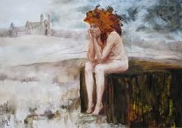 Obraz do salonu artysty Misia Łukasiewicz pod tytułem Prosta droga do zakonu