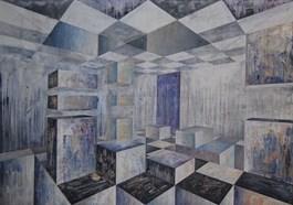Obraz do salonu artysty Iwona Gabryś pod tytułem Czlowiek walczący nr 33