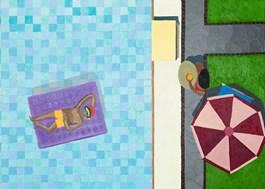 Obraz do salonu artysty Marek Konatkowski pod tytułem Swimming Pool 7