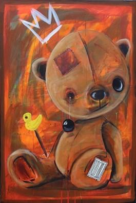 Obraz do salonu artysty Wojciech Brewka pod tytułem Oczko mu się odlepiło. Temu misiu.