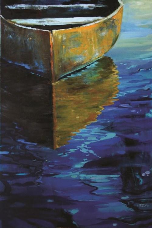 Obraz do salonu artysty Inez White pod tytułem Żółta łódź