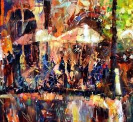 Obraz do salonu artysty Krzysztof Ludwin pod tytułem Parasole i cienie