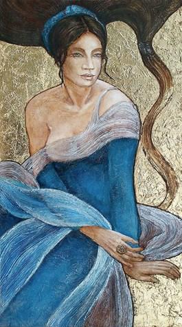 Obraz do salonu artysty Joanna Misztal pod tytułem Cichy szelest muślinu