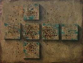 Obraz do salonu artysty Grzegorz Klimek pod tytułem Sześć elementów