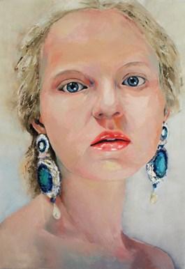 Obraz do salonu artysty Joanna Sokołowska pod tytułem Szafir