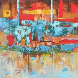 Obraz do salonu artysty Stanisław Tomalak pod tytułem Fragment363