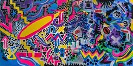 Obraz do salonu artysty Łukasz Leskier pod tytułem Duet
