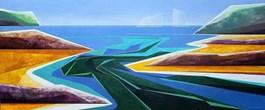 Obraz do salonu artysty Marta Bilecka pod tytułem Waterland - River 105