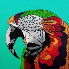 Obraz do salonu artysty Monika Mrowiec pod tytułem Papuga