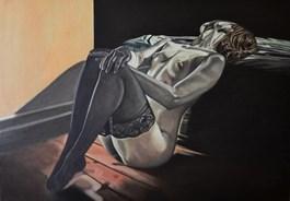 Obraz do salonu artysty Mateusz Dolatowski pod tytułem She keeps me warm