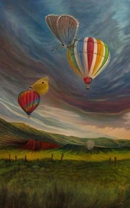 Obraz do salonu artysty Krzysztof Polaczenko pod tytułem Motyle