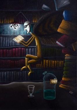 Obraz do salonu artysty Lena Sterk pod tytułem Bibliotekarz