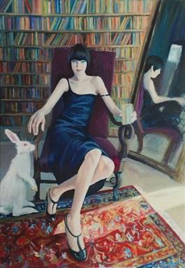 Obraz do salonu artysty Katarzyna Orońska pod tytułem WhiteRabbit