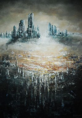 Obraz do salonu artysty Andrzej Fronczak pod tytułem Vestiga pressit